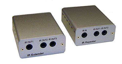 IR Remote Over Cat5 Cat6 Extender Kit + IR Remote Repeater