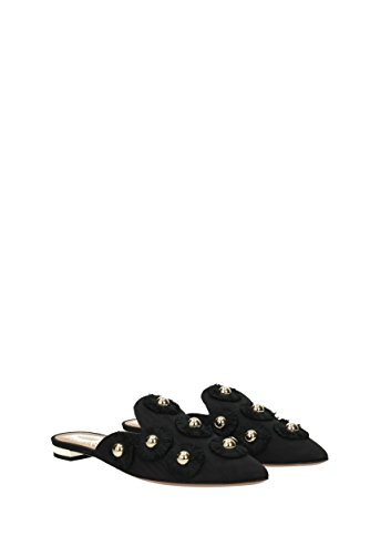 Donna Tessuto EU e Zoccoli AQUAZZURA Nero SUFFLAA0MOI Sunflower Ciabatte HawBqI7IT