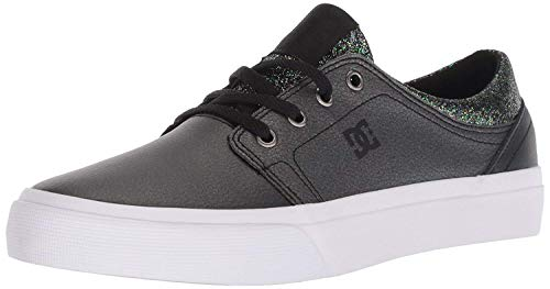DC Girls' Trase SE Skate Shoe, Black Multi, 4 M US Big Kid