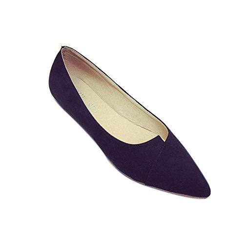 Pointed hollow out breathable flat sandals women black - 8
