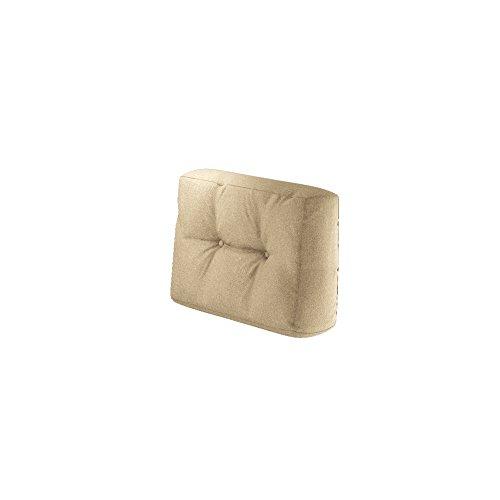 Palettenkissen Sitzkissen Rückenkissen Seitenkissen Loungmöbel Palettensofa Palettenpolster Kissen Sofa Polster Indoor Outdoor (Seitenkissen, Beige)