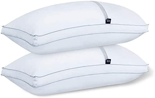 BedStory Almohada Antiácaros 42 x 70 cm Pack 2 Almohadas de Hotel Almohada con Relleno de Microfibra y Tejido Antialérgico para Dormir de Lado