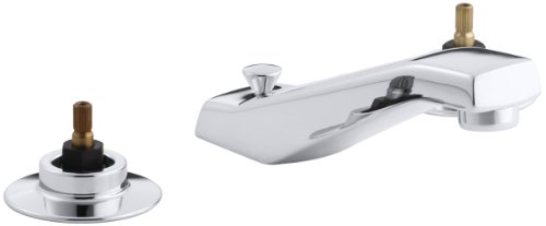 KOHLER K-7437-K-CP Triton Widespread Lavatory Faucet, Polished Chrome (Handles Not Included)