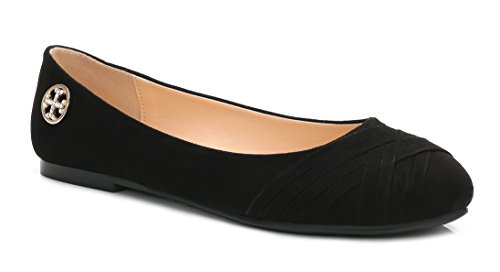 ComeShun Womens Black Shoes Classic Slip On Comfy Casual Ballet Flats Size 7