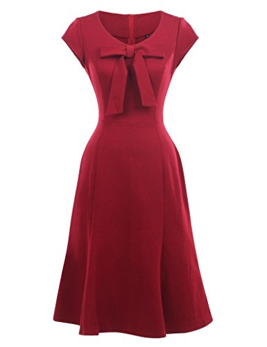 GownTown-Womens-1950s-Retro-Vintage-Dresses-Stretchy-Wrap-Style-Dresses