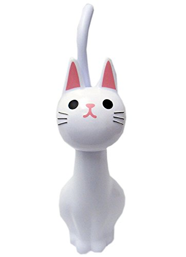 NEW Toilet Brush Cat White From Japan by no!no!