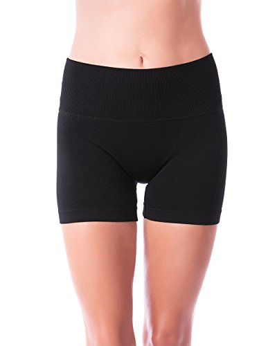 Homma Women's Seamless Compression Ombre Yoga Shorts Running Shorts Slim Fit … (Medium, Black) - Womens Spandex Compression Shorts