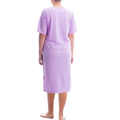 Donna Maniche Flieder Basic Corte Romesa Camicia UxXwEqXI7