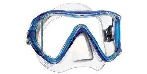 (Mares Italian Design Premium Collection Liquid Skin Panoramic View Tempered Glass Lens Premium Scuba Snorkeling Mask Dry Snorkel Set (Crystal)