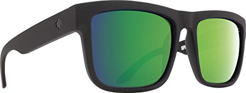 Spy Optic Discord Polarized Flat Sunglasses, Matte Black, 57 mm (Spy Wayfarer)