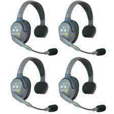 Person Intercom System (Eartec UL4S UltraLITE 4 Person Intercom System with 4 Single Headsets)