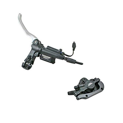 Tektro Auriga E-Comp-R, Rear hydraulic disc brake with lever, disc, caliper, hose and sensor control for electric bike