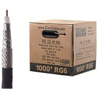 ECore Cables RG6 Quad Shield Coax Cable PVC - Black