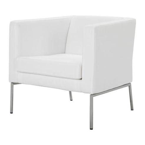 Sessel ikea weiß  IKEA KLAPPSTA -Sessel Rahmen ohne Untergestell weiß Nyarp: Amazon ...