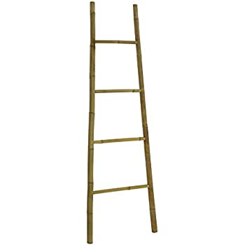 Statra Bamboo Bath Towel Ladder Rack 6 Ft, 72 x 20 x 2 Inches, Natural