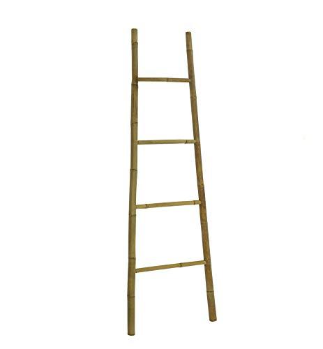 Statra L323N Bamboo Bath Towel Ladder Rack 6 Ft, Natural