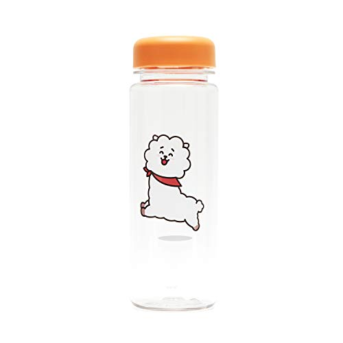 BT21 BTS Official Merchandise by Line Friends - RJ 16-Ounce BPA-Free Tritan Drinking Tumbler with Lid, Orange (Cute Best Friend Lines)