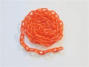 JellyBeadZ 1/2 Inch Orange Plastic MINI Chain Bird Toy Parts- 5 Foot Length ()