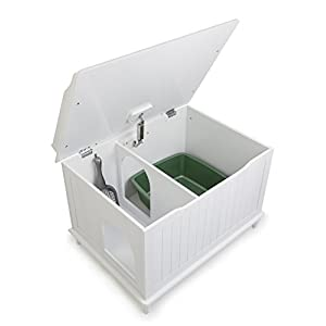 Nora Designer Litter Box Chest in White 41