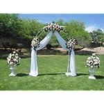 Adorox-75-Ft-Lightweight-White-Metal-Arch-Wedding-Garden-Bridal-Party-Decoration-Arbor-1