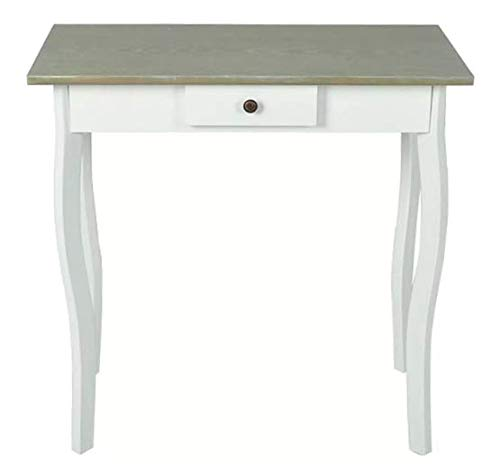 Console Table MDF White and Grayish Brown Stylish Excellent Highlight Bedroom Space MDF 29'' x 14'' x 29'' SKB Family