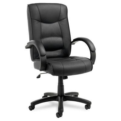 Alera Strada Series High-Back Swivel/Tilt Chair, Black Top-Grain Leather (Strada Alera Series)