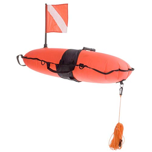 (Innovative Scuba Concepts Torpedo Buoy Orange W/LINE)