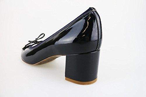 CALPIERRE Zapatos de salón mujer negro marrón / Azul cuero de ante Textil Azul