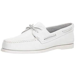 Sperry Mens A/O 2-Eye Boat Shoe, White, 10.5