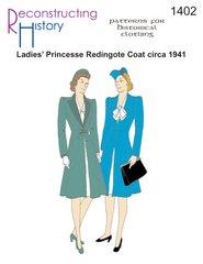 [1941 Ladies' Redingote Coat Pattern] (Costume Redingote)