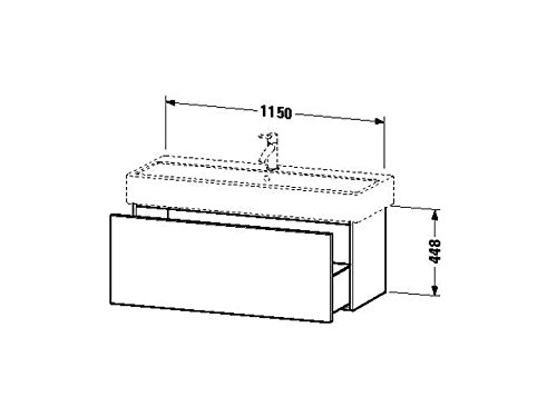 Duravit Waschtischunterschrank wandh. Delos 445x1150x448mm 1 Auszug, für 045412, weiss hochglanz, DL