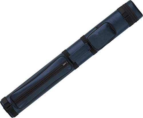 Action Vinyl Pool Cue Case (2 Butt and 2 Shaft), Blue