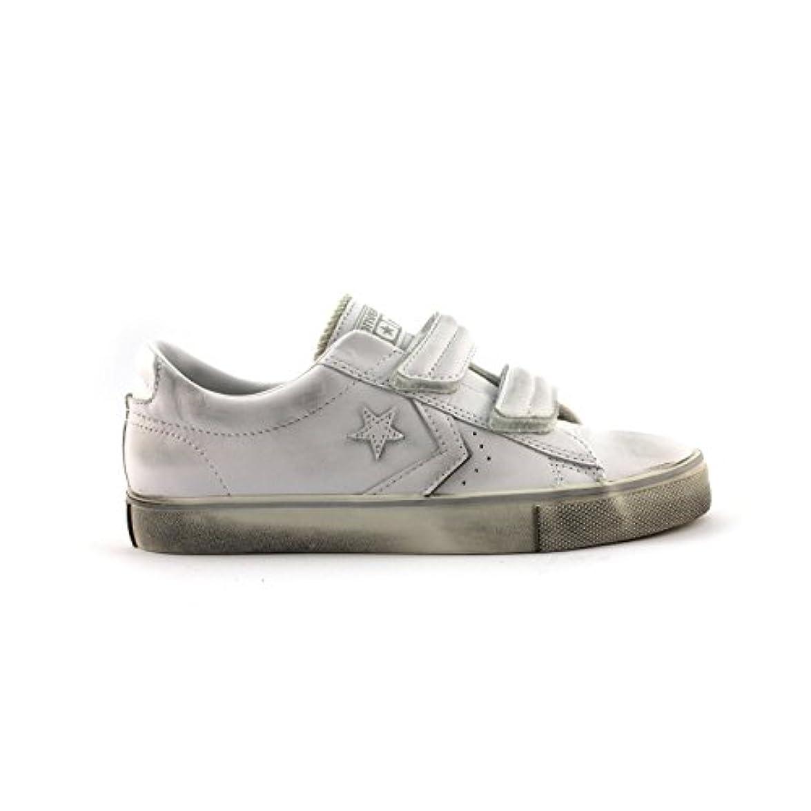 Converse Pro Leather Strap Ox 155240cs Sneaker Pelle Unisex White Monochrome