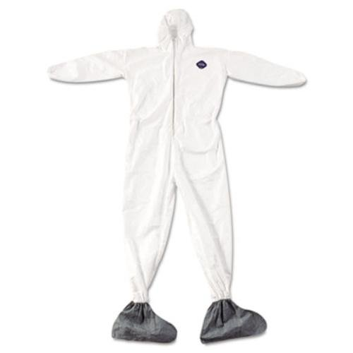 E.I. DUPONT DE NEMOURS - Tyvek Elastic-Cuff Hooded Coveralls W/boots, White, 4x-Large, 25/carton ( DUPTY122S4XL ) ( TY122S4XL )