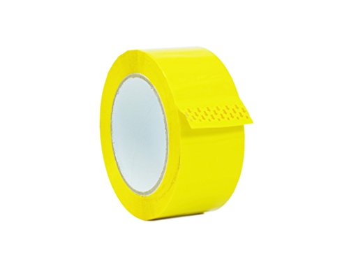 WOD OPP-20C Yellow Carton Sealing Tape, Strong Heavy-Duty Industrial Shipping Packaging Tape for Moving, Office, Storage (Available in Multiple Sizes & Colors): 2 in. Wide x 110 yds. 2 mils Thick