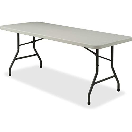 (Lorell 66656 Rectangular Banquet Folding Table, Platinum,Gray,Powder Coated)