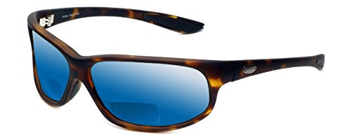Orvis Midway Polarized Bi-Focal Reading Sunglasses in Matte-Tortoise w/ Blue Mirror Lens +1.75 by Orvis
