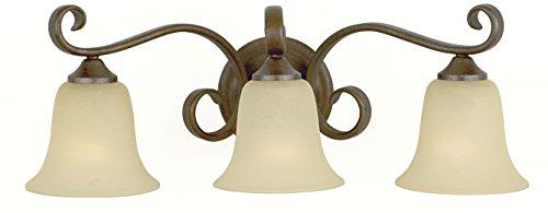 - Murray Feiss VS10403-CB, Vista 3-Light Vanity Fixture, Corinthian Bronze