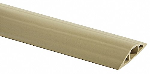 Cable Protector, 1-Channel, Beige, 5 ft. x 3/4 H, Max. Cable Dia.: 1/2