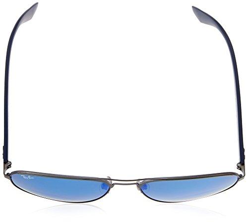86343b5b3023f4 ... Ray-Ban Lunettes de soleil aviateur en mat Gunmetal miroir vert bleu  RB3523 029