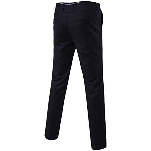 1 Semplice Black Casual Leisure Uomo 4xl Slim Pantaloni Suit Chino Gamba Dritta A Business Primavera color Classici Autunno Stile Da Size vwvpqzUA