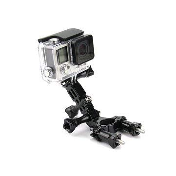 ssories Mounts - Bike Motorcycle Holder Handlebar Mount Adjustment Arm for Hero 3 4 Yi 4k II Accessories ()