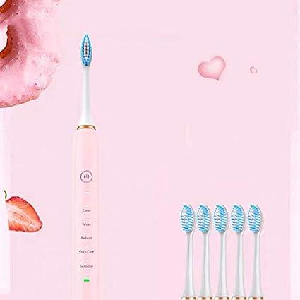 YAHRC Cepillo de dientes eléctrico adulto recargable limpieza sónica cuidado suave del cabello limpieza profunda pareja