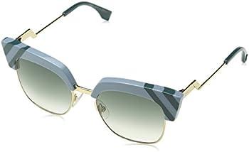 Fendi Waves Grey Gradient Square Ladies Sunglasses