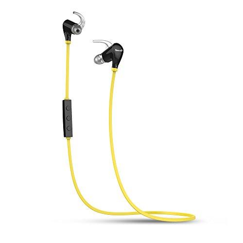 Barwa BW909 in The Ear Wireless Bluetooth Dual Device Handsfree Earphones  Black and Yellow