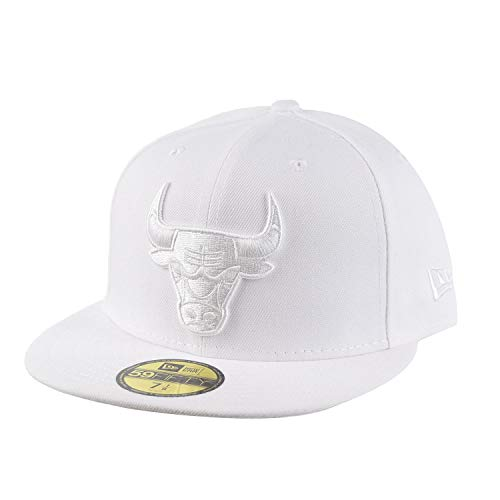 - New Era Chicago Bulls Fresh Hook 59Fifty Fitted Cap Hat White 80705567 (Size 7 3/8)