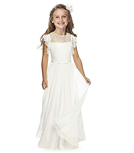 Sittingley Fancy Girls Holy Communion Dresses 1-12 Year Old White Size 10]()