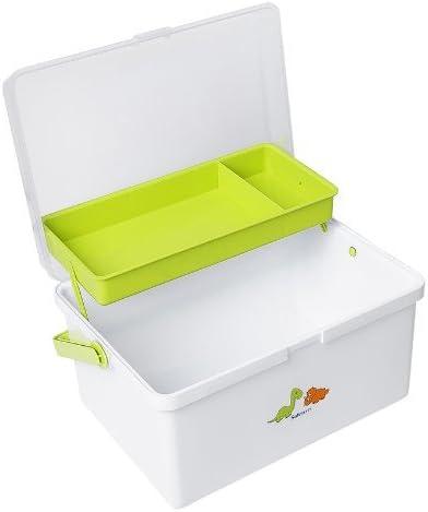 Safetots Dinosaur Print Baby Changing Box Organiser White//Lime