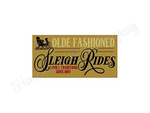 MaxwellYule Olde Fashioned Sleigh Rides Reusable Sign DIY Craft Supplies Painting