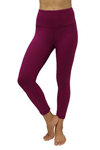 90 Degree By Reflex – High Waist Tummy Control Shapewear – Power Flex Capri-Magenta Haze-M